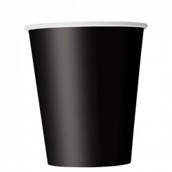 Fekete Papír Parti Pohár - 270 ml, 8 db-os