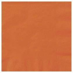 Narancssárga Papír Parti Szalvéta - 20 db-os