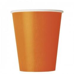 Narancssárga Papír Parti Pohár - 8 db-os