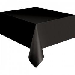 Fekete Műanyag Parti Asztalterítő - 137 cm x 274 cm