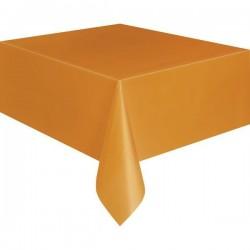 Narancssárga Műanyag Parti Asztalterítő - 137 cm x 274 cm