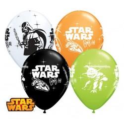 Star Wars - Darth Vader & Yoda Gumi Lufi (6 db/csomag) - 28 cm