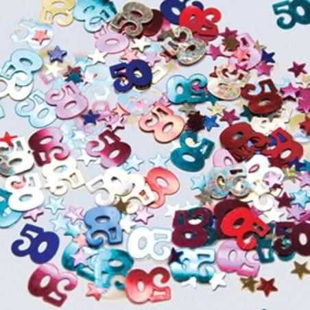 Vegyes színű 50-es Számos Konfetti - 14 gramm