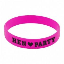 Lánybúcsúra Gumi Karkötő Hen Party Felirattal 6 db-os
