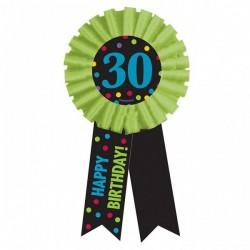 30-as Happy Birthday Feliratos Színes Szülinapi Kitűző