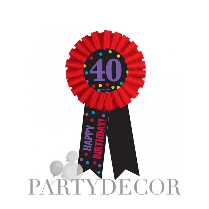 40-es Happy Birthday Feliratos Szülinapi Kitűző