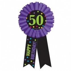 50-es Happy Birthday Feliratos Szülinapi Kitűző