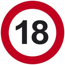 18-as Sebességkorlátozó Szülinapi Tábla - 40 cm