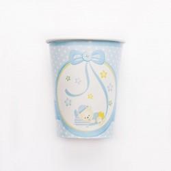 Kék Macis Csillagos-Pöttyös Pohár - 8 db-os, 250 ml