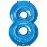 8-as Szám Formájú Héliumos Fólia Lufi - Zafír Kék - 86 cm