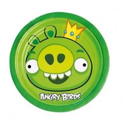 Angry Birds - Zöld Malac Parti Tányér - 18 cm, 8 db-os