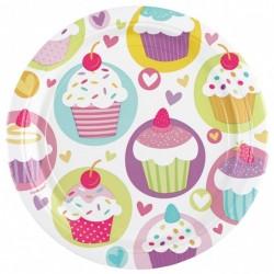 Muffin Parti Tányér - 18 cm, 8 db-os