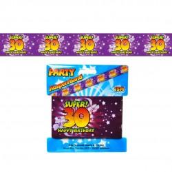 30. Születésnapi Kordon Szalag, Banner 15m x 7,5cm
