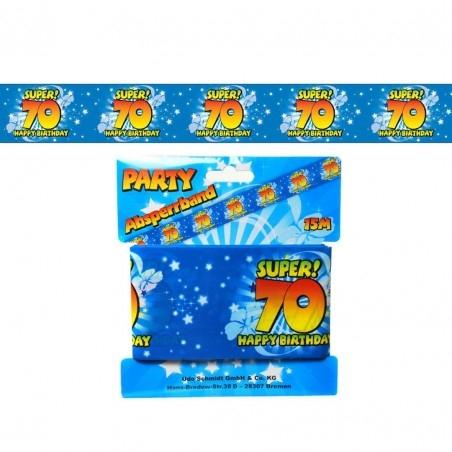 70. Születésnapi Kordon Szalag, Banner 15m x 7,5cm