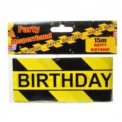 Születésnapi Happy Birthday Kordon Szalag, Banner 15 m