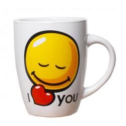 Smile bögre I Love You felirattal