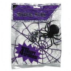 Pókháló 4 db Fekete Pókkal