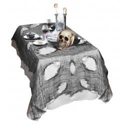 Rongyos, gótikus asztalterítő Halloweenre 60 x 300 cm