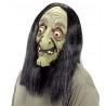 Boszorkány maszk fogatlan, ijesztő, parókával