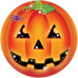 Tök Mintás Tányér Halloweenre