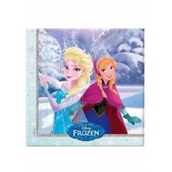 Jégvarázs - Frozen Elsa & Anna Parti Szalvéta - 33 cm x 33 cm, 20 db-os
