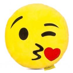 Emoji Párna - Csókot küldő smile párna