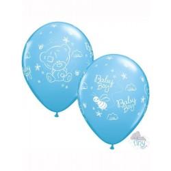 Baby Boy Maci és Méhecskés Lufi Babaszületésre - 28 cm