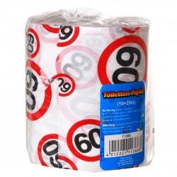Születésnapi WC papír 60-as számos sebességkorlátozós