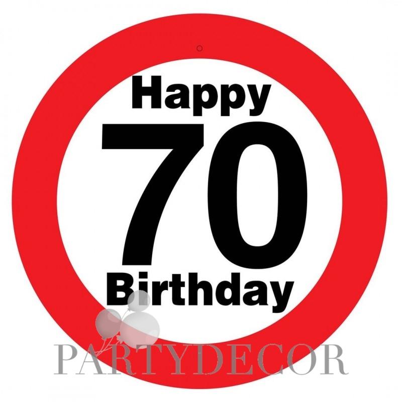 70. születésnapra sebességkorlátozó tábla 4552ff4dfd