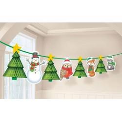 Karácsonyi Mintás Függő Dekoráció
