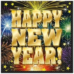 Happy New Year Szalvéta Szilveszterre - 16 db-os
