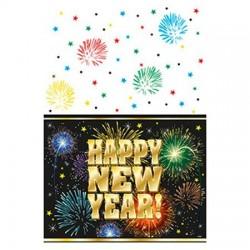 Happy Happy New Year Asztalterítő Szilveszterre - 137 cm x 213 cm