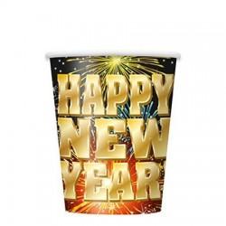 Happy New Year Pohár Szilveszterre - 270 ml, 8 db-os