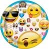 Emoji Tányér, 17 cm - 8 db-os
