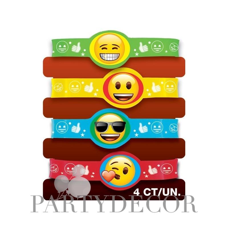 Színes emoji mintás karkötő szett - 4 db e7a0ff17b2