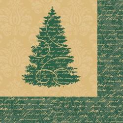 Elegáns Karácsonyi Szalvéta - 33 cm x 33 cm, 16 db-os