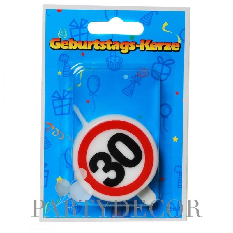 Születésnapi 30-as tortagyertya sebességkorlátozós