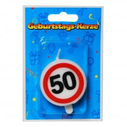 Születésnapi 50-es tortagyertya sebességkorlátozós