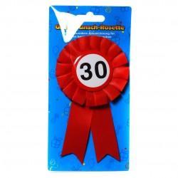 30. Születésnapi szalagos kitűző, sebességkorlátozós