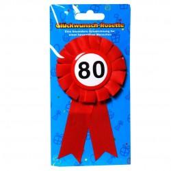 80. Születésnapi szalagos kitűző, sebességkorlátozós