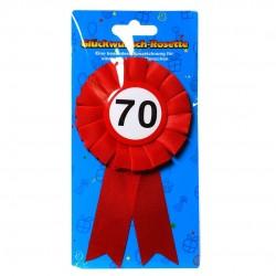 70. Születésnapi szalagos kitűző, sebességkorlátozós