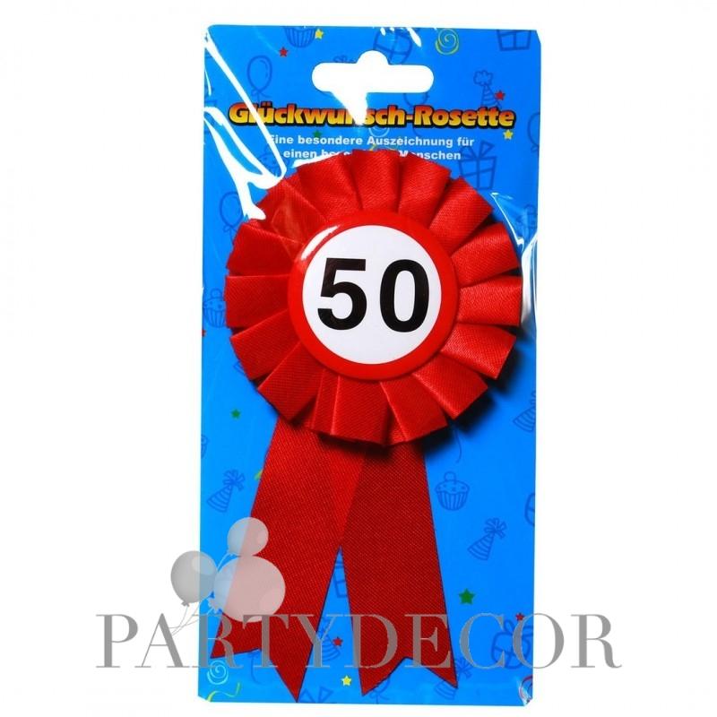 50. Születésnapi szalagos kitűző, sebességkorlátozós