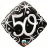50-es Elegáns Fekete-Ezüst Héliumos Fólia Lufi