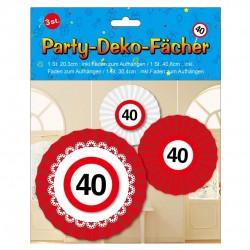Születésnapi 40-es sebességkorlátozós party dekoráció szett - 3 db-os