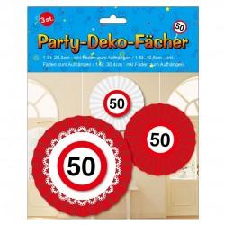 Születésnapi 50-es sebességkorlátozós party dekoráció szett - 3 db-os