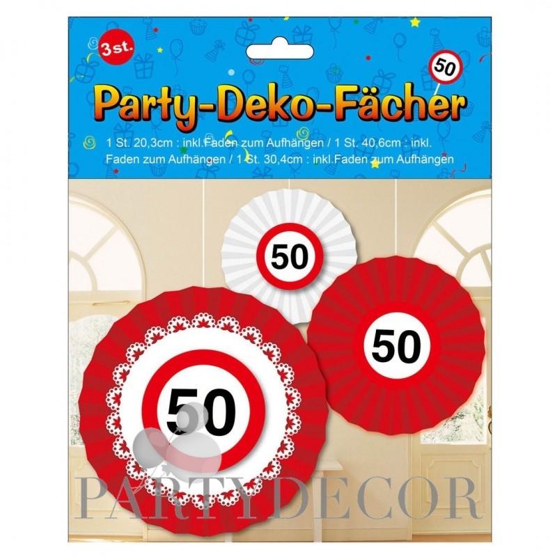 Születésnapi 50-es sebességkorlátozós party dekoráció szett - 3 db-os 7fa36dca7a