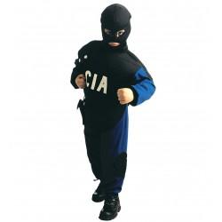 CIA Rendőr jelmez 5-7 éveseknek  128 cm-es