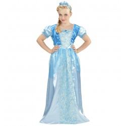 Hókirálynő hercegnő jelmez tiarával 4-5 éveseknek 116 cm-es