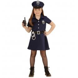 Rendőrlány jelmez 4-5 éveseknek 116 cm-es