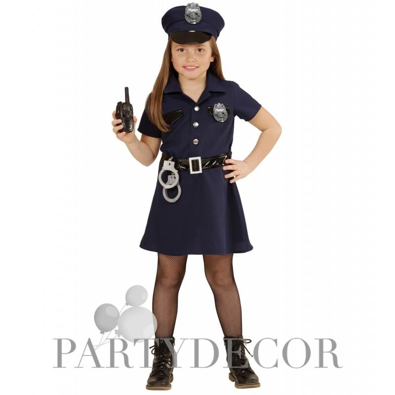 Rendőrlány jelmez 5 7 éveseknek 128 cm es